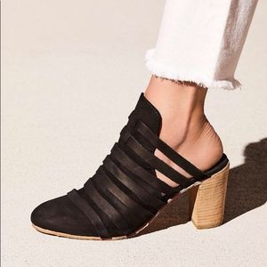 New FREE PEOPLE Byron Strappy Mules Heels sz 38